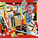 Stuart Davis (1894-1964) | Hot Stillscape for Six Colors, 1940 | Oil on Canvas, 36 x 45 inches | Museum of Fine Arts, Boston