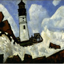 Marsden Hartley (1877-1943) | The Lighthouse | Oil on Canvas, 30 x 40 inches | Signed and dated MH 1940-41 lower right | Private Collection