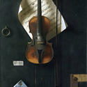 William M. Harnett (1851-1892) | The Old Violin, 1886 | Oil on Canvas, 38 x 24 inches | National Gallery of Art